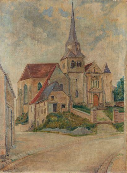 RENE MENDES FRANCE (1888-1985)  Eglise de...