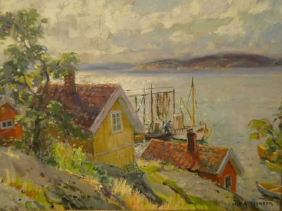 Karl Vihelm ANSTENSEN (1913-2001)  Maisons...