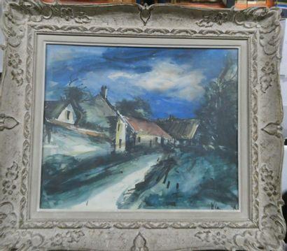 D'après Maurice de Vlaminck  Rue de village...
