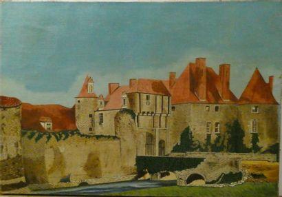 Ecole du Xxè siècle  Le château de la guyonnière,...