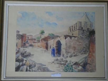Charles-René PAYEN (XIX-XXe)  Village marocain...