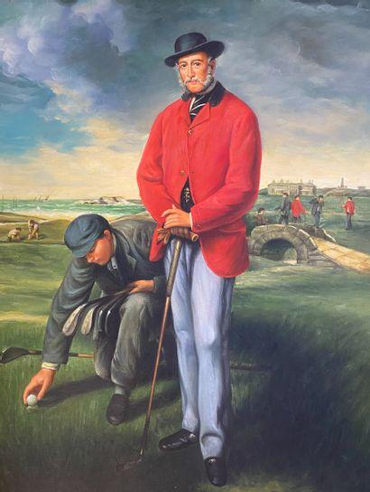 Ecole moderne  Les joueurs de golf  Deux...