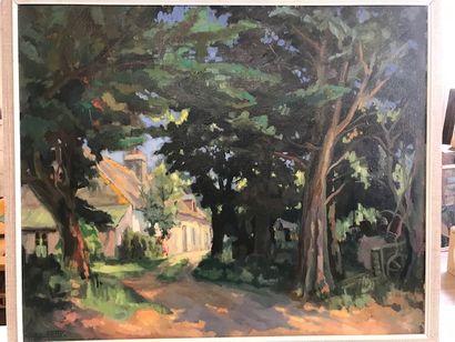 Gilbert SAILLY (1916-1997)  Sous bois avec...