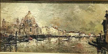 Lucien GUERBER, né en 1920  Vue de Venise...