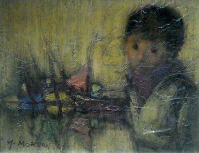 Yves MORVAN (1914-1996)  Petit garçon et...