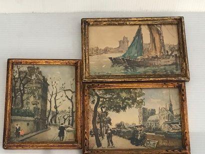 Ecole Française du Xxè siècle  Vue du port...