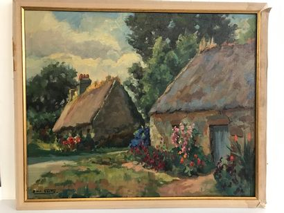 Gilbert SAILLY (1916-1997)  Chaumières au...
