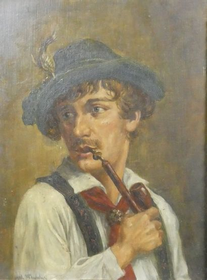 Ecole autrichienne du Xxème  Portrait d'homme...