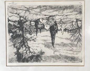 Louis CHARRAT (1903-1971)  Paysage aux grands...