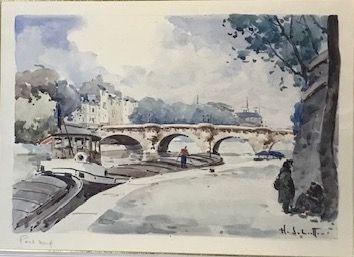 Ecole Française du XXè siècle  Pont neuf...
