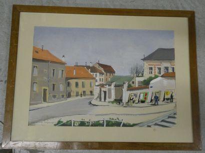 LAGRANGE Jacques René, 1917-1995  Rue à Arcueil,...