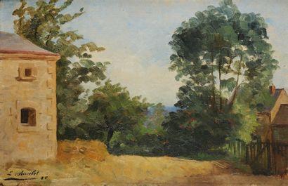 EMILE ANCELET (1865-1951)  Paysage  Huile...