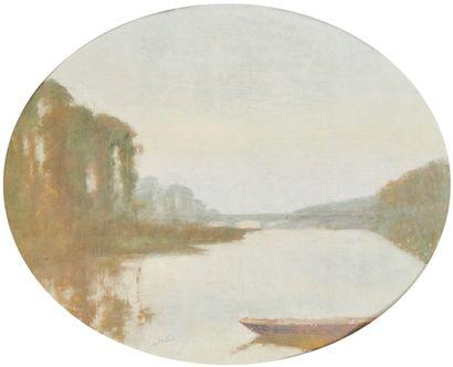 MARCEL LAVOLLEE (XIXE-XXE)  Bords de la Loire...
