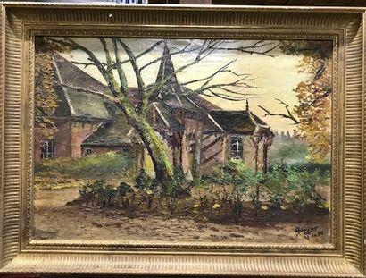 BROSSIER (Xxè siècle)  Jardin et maison -...