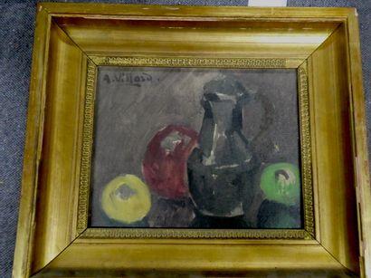 Abel VILLARD (1871-1969)  Nature morte au...