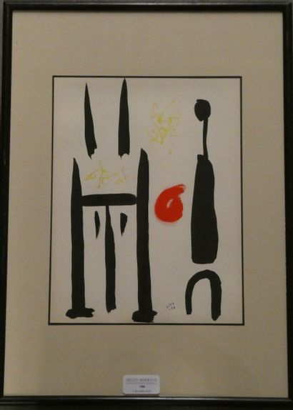 Thomas GLEB (1912-1991)  Le peintre  Gouache...
