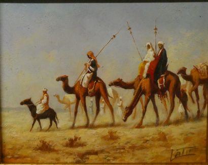 Goran Sherif LATIF (1968)  La caravane  Huile...