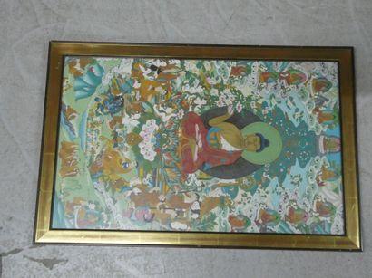 Bouddha.  Travail indonésien  Dim. : 68 x 42 cm