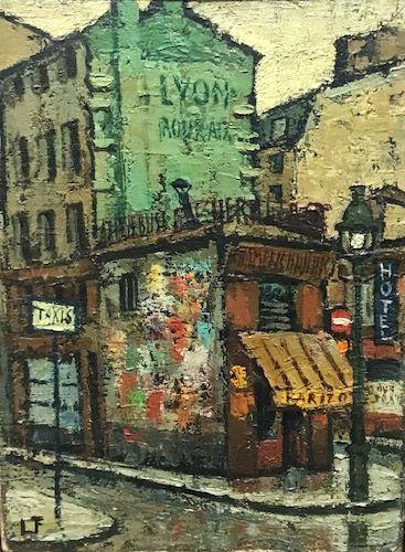 Ecole Française, vers 1950  Rue de Paris...