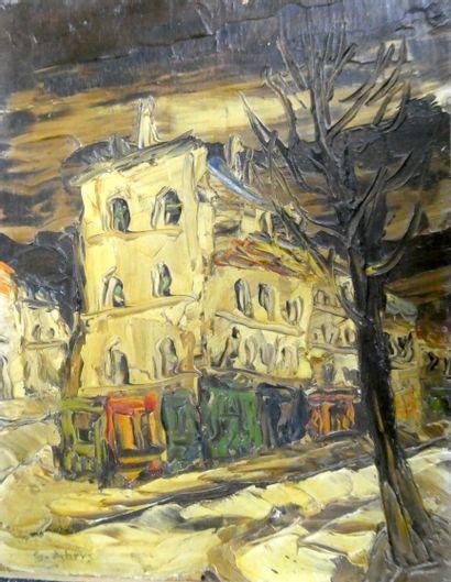 Léon SCHWARZ-ABRYS (1905-1990)  Rue de Montmartre...
