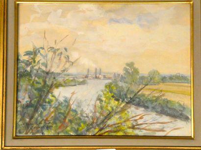 Jean DREYFUS STERN  La Seine à le Frette...