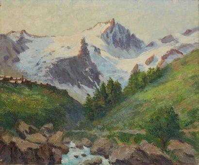 Micheline CANNAULT UTZ (XXe siècle)  Paysage...