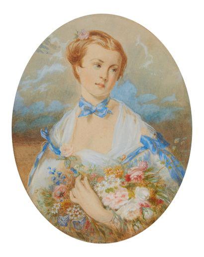 Honorine EMERIC - BOUVRET (Melun 1814 - ?)...