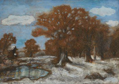 OLGA OMELIANSKY (XXE)  Paysage sous la neige...