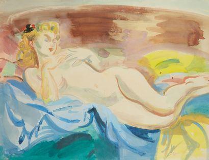 ANDRÉ PLANSON (1898-1981)  Portrait de femme...