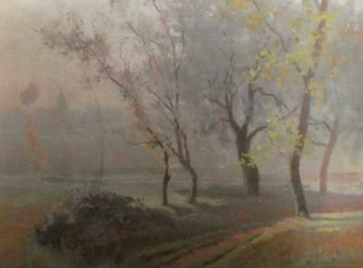 Raymond PERREAU (1874-1976)  Route de campagne...
