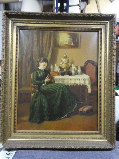 PIERRE EMILE BERNEDE (1820-1920)  Jeune fille...
