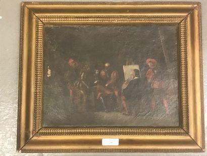 Ecole ITALIENNE du XIXe siècle  Raphael peignant...