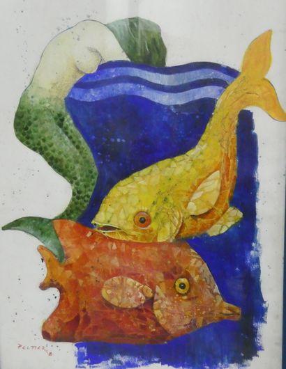 PELTIER (Xxè siècle)  Sirène et poisson  Technique...