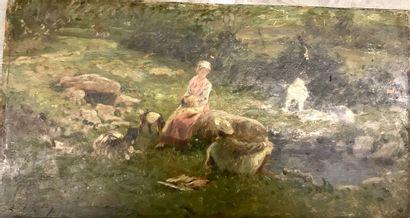 Edmond Adolphe RUDAUX (1840-1908)  Bergère...