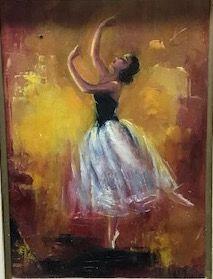 Ecole du XXè siècle  Ballerine  Huile sur...