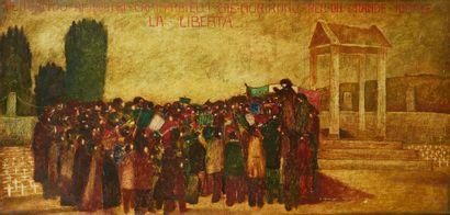 DINO CAVALLARI (XXE)  Huile sur toile figurant...