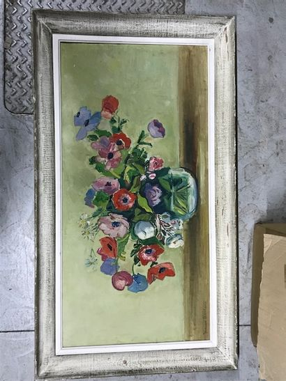 Jeanne HERBERT ( Xxè siècle)  Bouquet de...