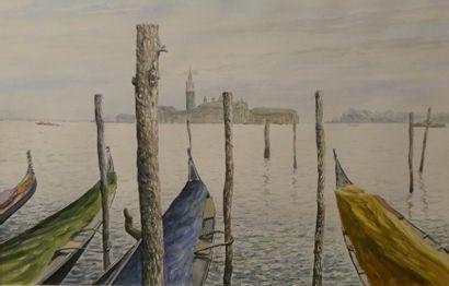 TURPAIN  Venise  Aquarelle, signée en bas...