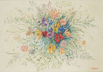 LOUIS TOUCHAGUES (1893-1974)  Bouquet de...