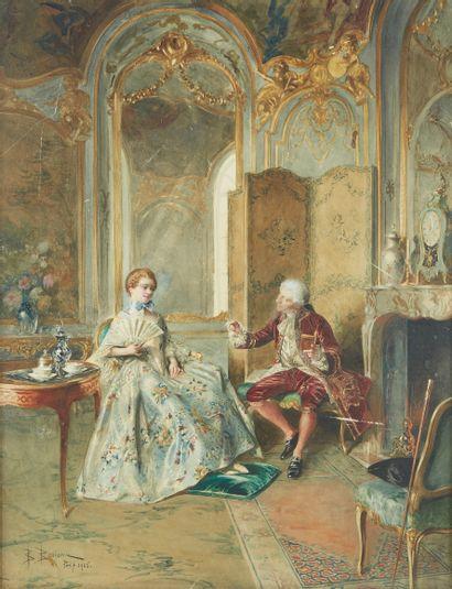 BERNARD LOUIS BORIONE (1865-?)  Scène historique...