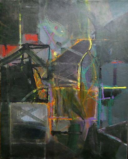 Atrivué à J. COLBURN, né en 1934  Abstraction...