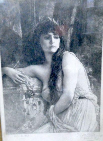 Emile Louis DE RUAZ (1868-1931)  Portrait...