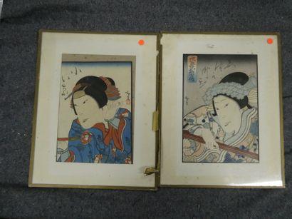 JAPON  Geishas  Encre sur papier  Dim. :...