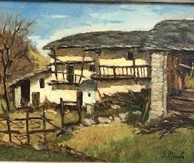 NICOLA (XXè siècle)  La ferme  Huile sur...