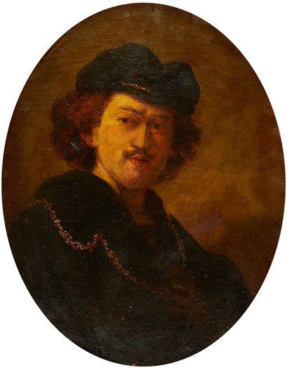 ECOLE FRANÇAISE DE LA FIN DU XIXE SIÈCLE D'après Rembrandt