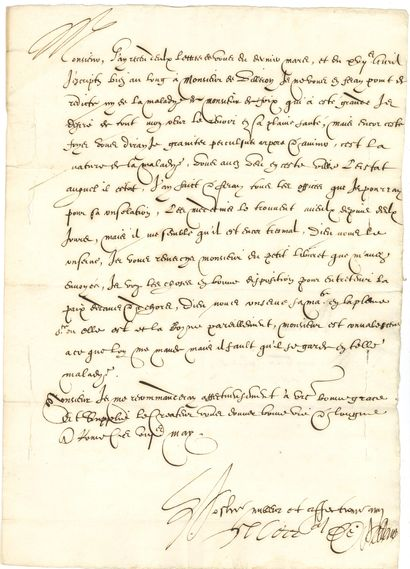 [Jules GASSOT (1555-1629) conseiller du Roi et secrétaire de ses finances].