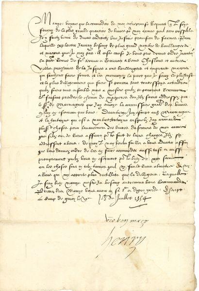 HENRI II (1519-1559) Roi de France.