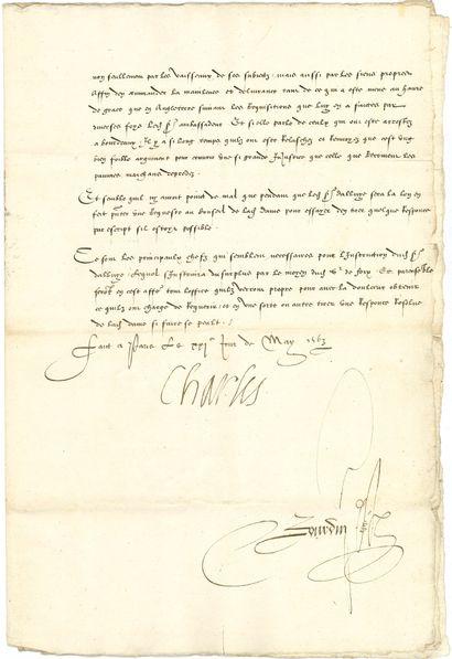 CHARLES IX (1550-1574) Roi de France.