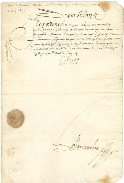 Louis XIII (1601-1643) Roi de France.