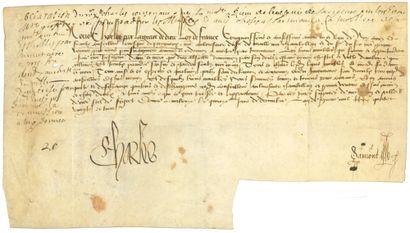 Charles VIII (1470-1498) Roi de France.